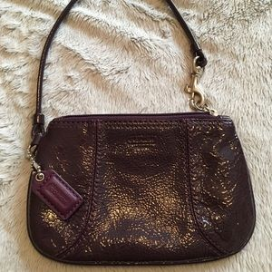 Coach small wristlet - patent leather!